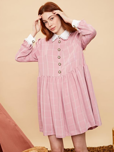 Just Jane Smock Dress - Cotton Candy
