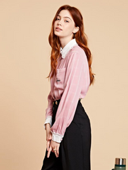 Just Jane Smock Shirt - Pink