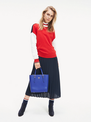 Tommy Hilfiger Hadlie Colour-Blocked Jumper - Haute Red Multi