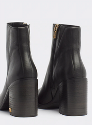 Tommy Hilfiger Mono Colour Heeled Boot - Black