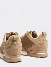 Tommy Hilfiger Mix Material Wedge Sneaker - Tigers Eye