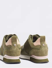 Tommy Hilfiger Mix Material Wedge Sneaker - Khaki