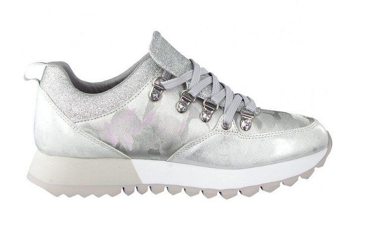 Silver Combination Sneakers