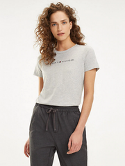 Tommy Hilfiger Essential Printed T-Shirt - Light Grey