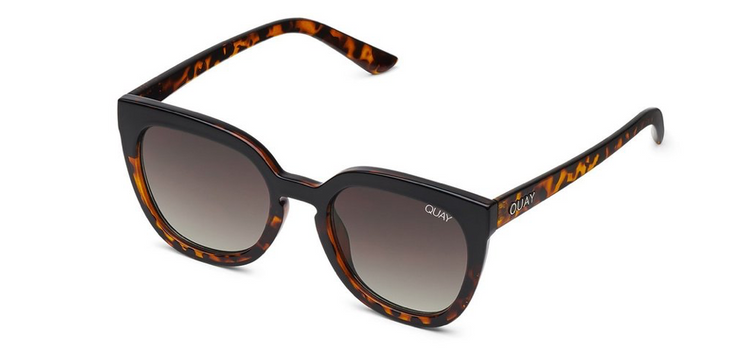 Quay Noosa Sunglasses - Black Tortoise/Brown Fade