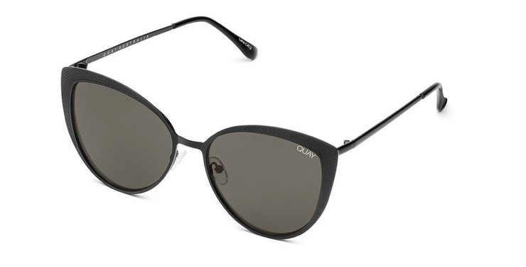 Quay Sweet Darlin Sunglasses - Black/Smoke Lens