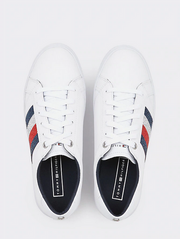 Tommy Hilfiger Crystal Leather Casual Sneaker - White