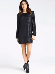 Guess Delvina Dress - Black Sequins Combo