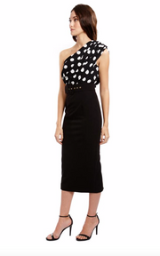 Evelyn Dress - Black Polkadot