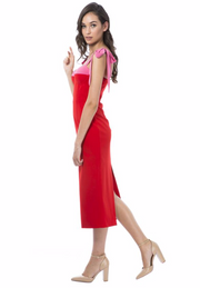 Chantelle Dress - Red and Pink