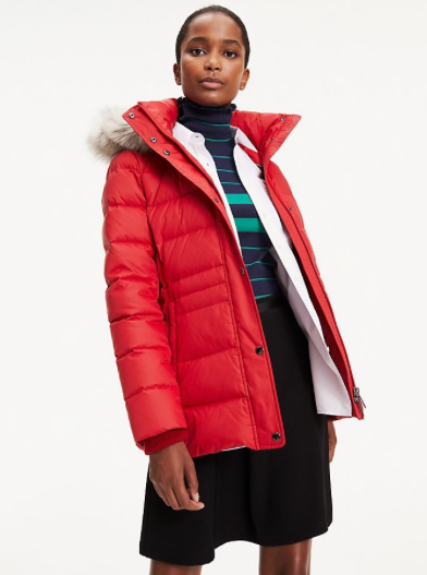 Tommy Hilfiger New Tyra Down Jacket - Haute Red