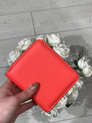 Guess Tangey SLG Small Zip Around Purse - Coral