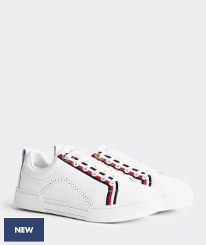 Tommy Hilfiger Branded Outsole Sneaker - White