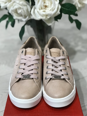 Nude Sneaker with Rose Gold Detail