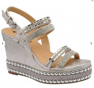 Cobar Silver Metallic Wedge