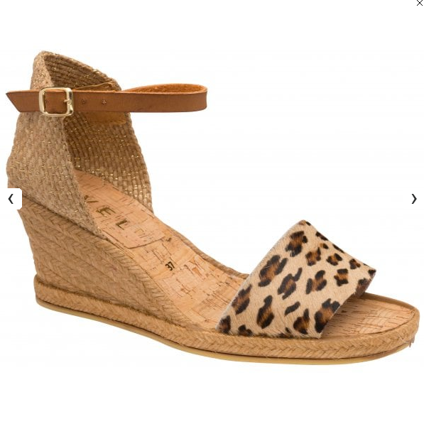 Roma Leopard Espadrille Wedge Sandals