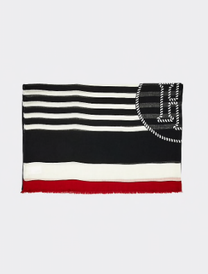 Tommy Hilfiger Breton Stripe Scarf - Blue Ink