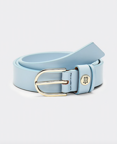 Tommy Hilfiger Classic Slim Leather Belt - Breezy Blue