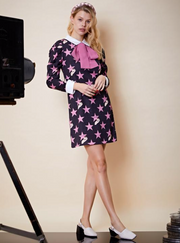Hollywood Rabbit Dress - Black & Pink