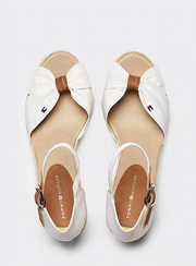 Tommy Hilfiger Basic Opened Toe Mid Wedge - Ivory