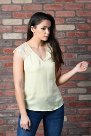 Guess Short Sleeve Ilia Top - Lemon
