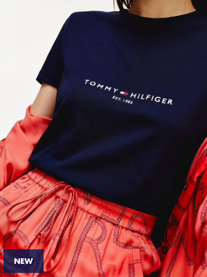 Tommy Hilfiger Essential Organic Cotton T-Shirt - Desert Sky