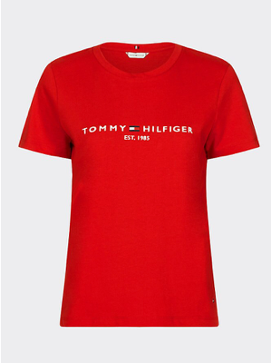 Tommy Hilfiger Essential Organic Cotton T-Shirt - Primary Red