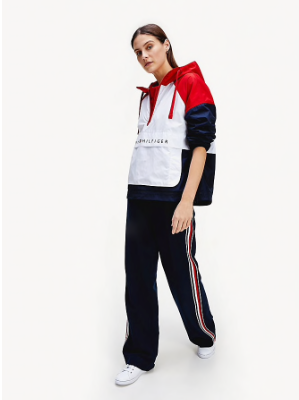 Tommy Hilfiger Packable Colour-Blocked Popover Jacket - RWB