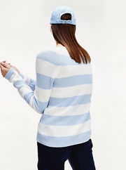 Tommy Hilfiger Hayana V-Neck Sweater - Blue/White