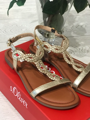 Gold Twisted Style Sandals