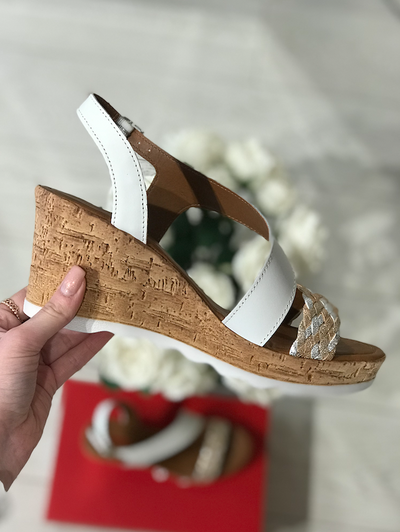 White Wedges with Gold and Silver detail