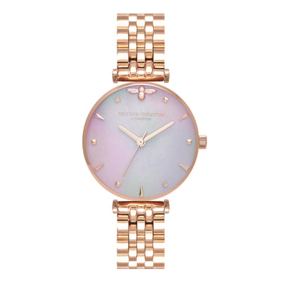 Queen Bee Grey Pearlescent Date Dial & Rose Gold - AM152