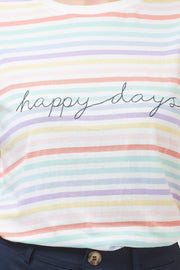 Maggie Happy Days Stripe T-Shirt - Multi