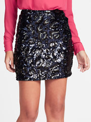 Guess Lina Skirt - Leopard Sequins Blue