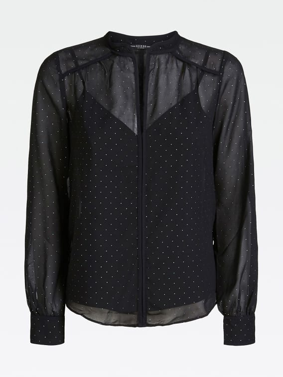 Guess Jabira Top - Jet Black with Rhinestones