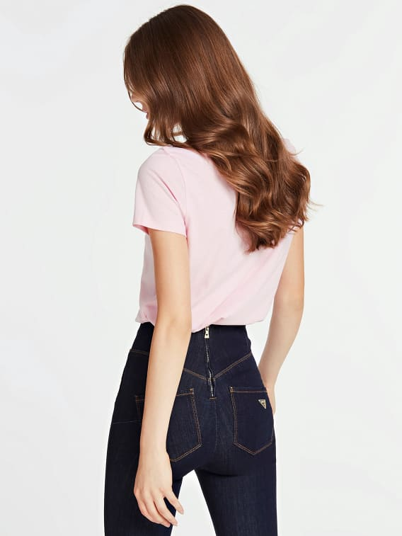 Guess Short Sleeve Roxy Tee - Pink
