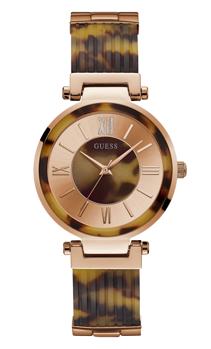 Guess Soho Ladies Dress Ananlog Tortoise Watch