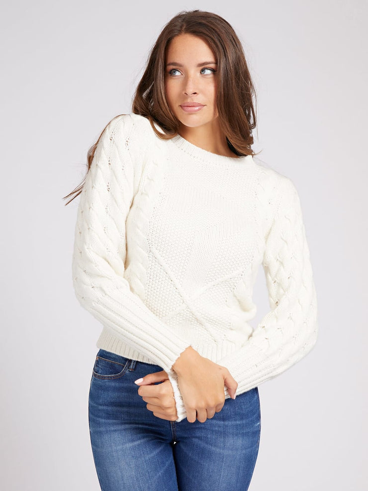 Guess Sarah Knit Sweater - True White