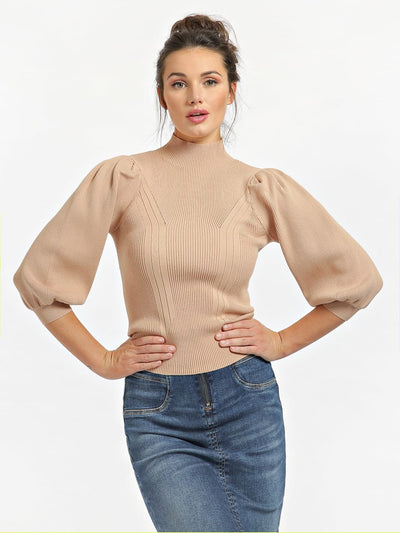 Guess Betsy Turtle Neck Sweater - Soft Sand