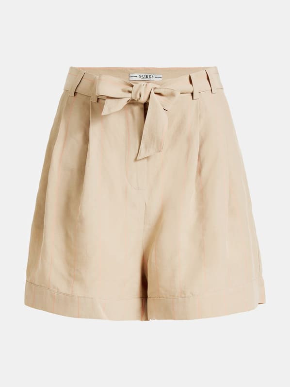 Guess Helena Shorts - Beige Striped Combo