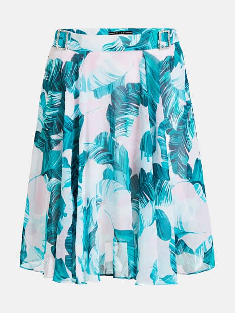 Guess Grace Skirt - Hawaiin Leaves Pink