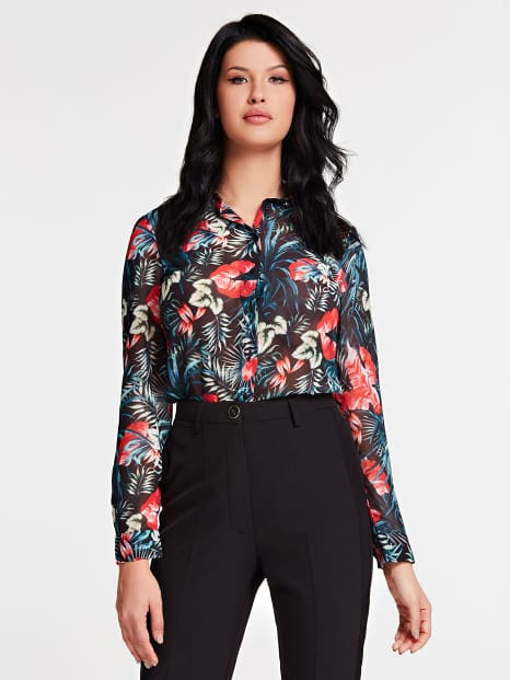 Guess Clouis Shirt - Dark Tropic