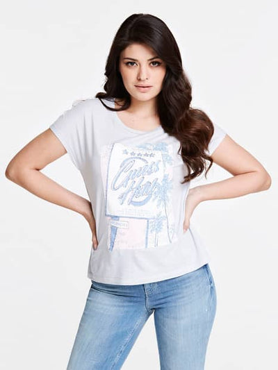 Guess Glamour T-Shirt - Stone Heather Grey