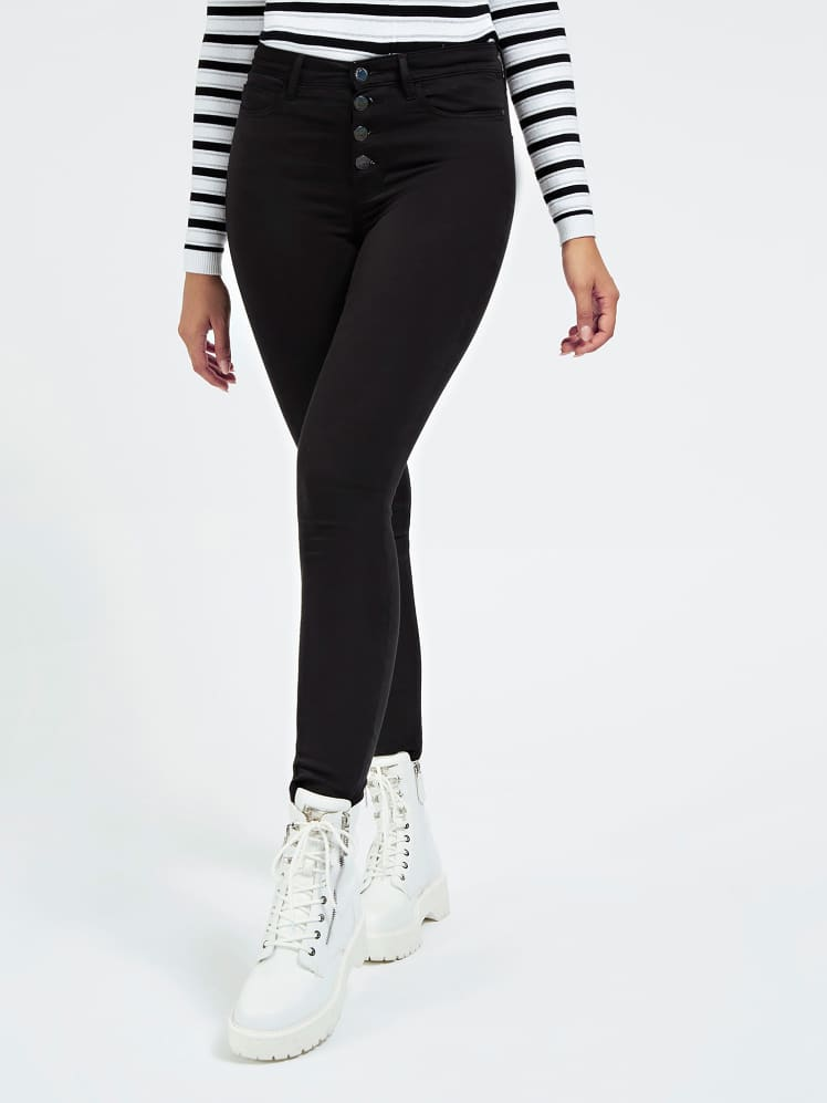 Guess 1981 Exposed Button Black Jean - Jet Black