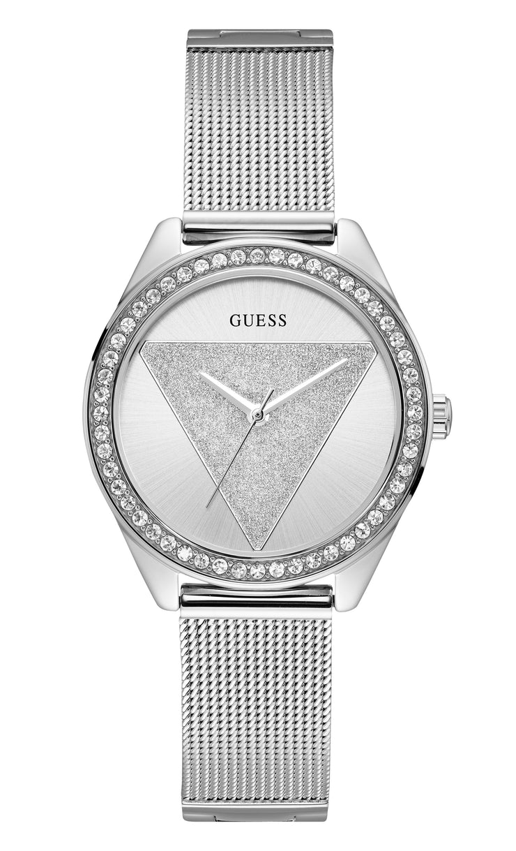 Guess Tri Glitz Ladies Trend Analog Silver Watch