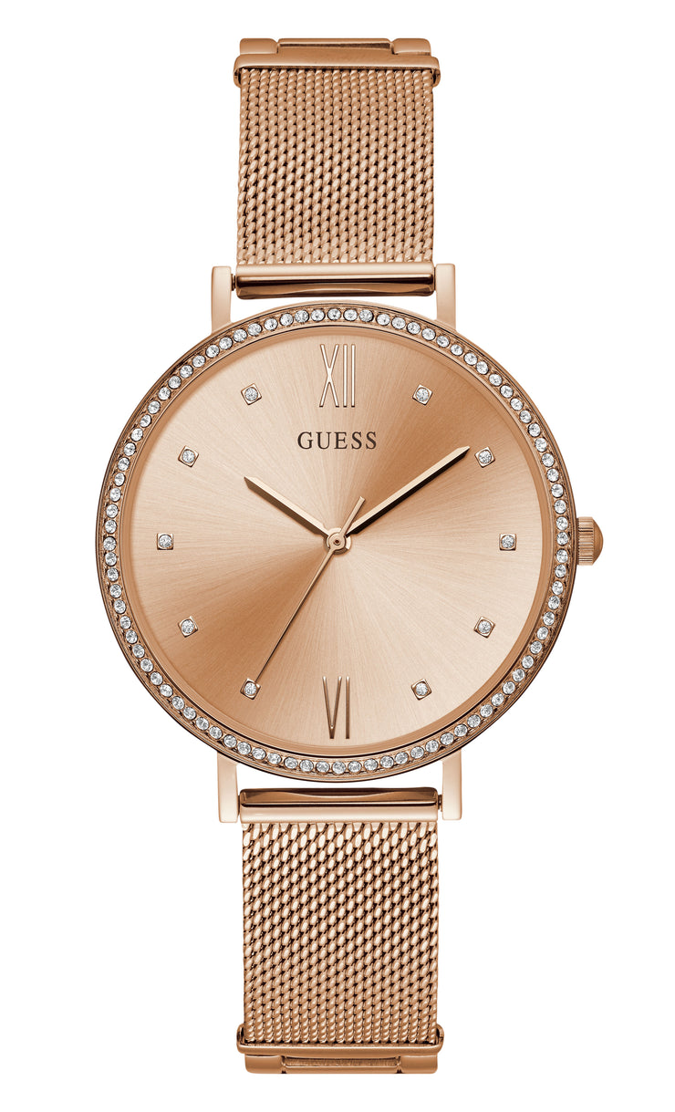 Guess Grace Ladies Dress Analog Rose Gold Watch