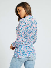 Guess Clouis Shirt - Charcoal Floral Blue