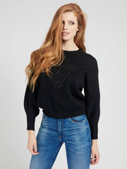 Guess Lily Round Neck Sweater - Jet Black