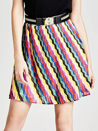 aba7c6a5df Guess Nazarena Pleated Skirt With Belt
