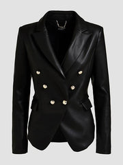Guess Kumi Blazer With Buttons - Jet Black